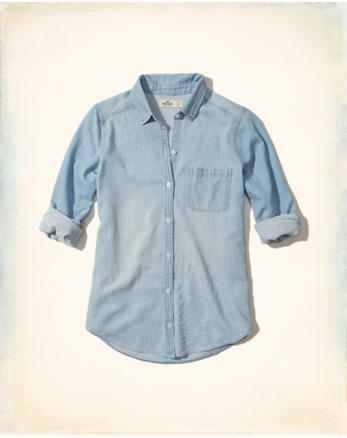 hol Chambray Button-Front Shirt