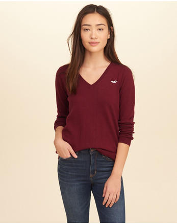 hol V-Neck Icon Sweater