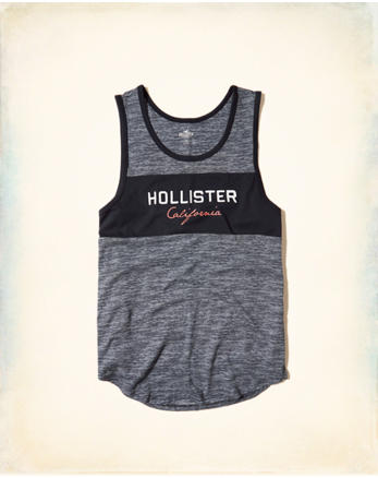 hol Colorblock Graphic Tank