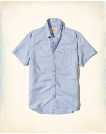 hol Stretch Short-Sleeve Oxford Shirt