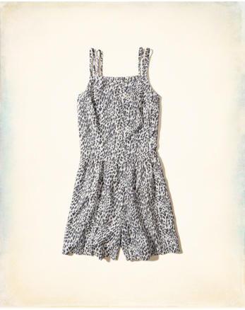 hol Patterned Strappy Romper