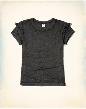 hol Ruffle Crew T-Shirt