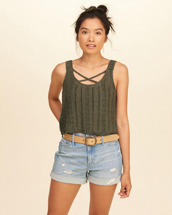 Strappy Sweater Tank