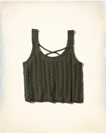 hol Strappy Sweater Tank