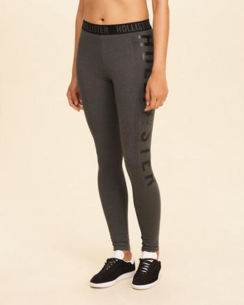 Logo Graphic High-Rise Jersey Leggings