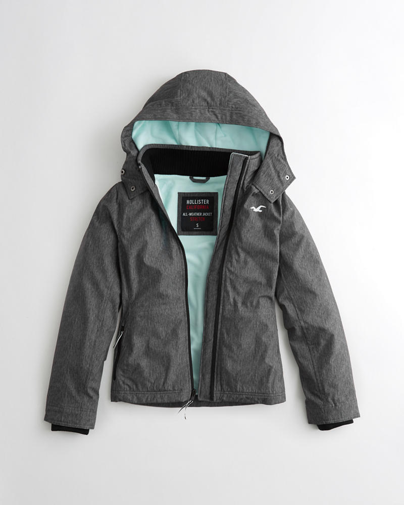 Hollister all weather jacket grey