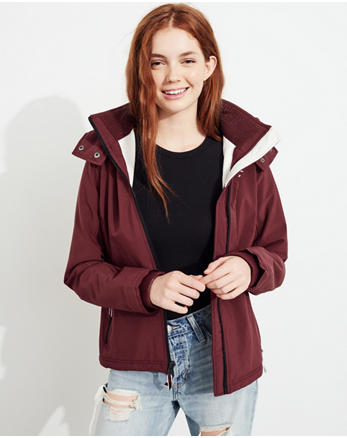 hol Hollister All-Weather Stretch Fleece-Lined Jacket