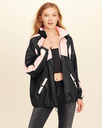 Oversized Colorblock Windbreaker