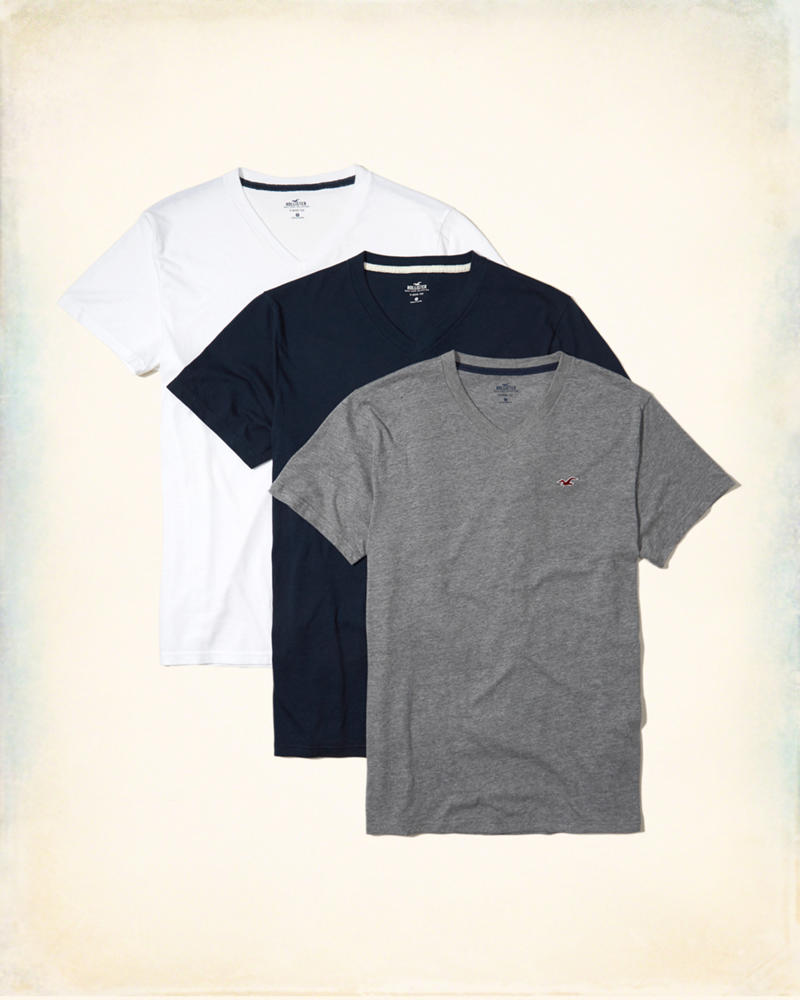 Black t shirt v shape - Must Have V Neck T Shirt Multipack