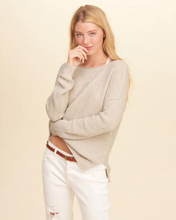 Textured Crewneck Sweater