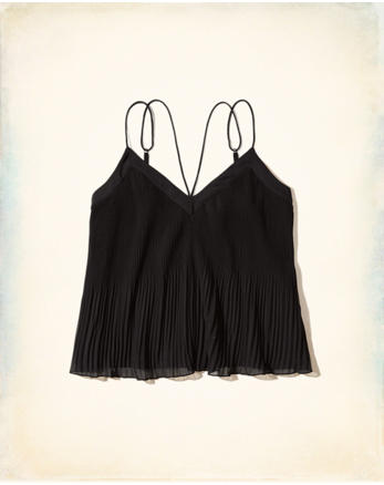 hol Pleated Chiffon Cami