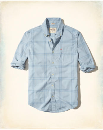 hol Stretch Plaid Oxford Shirt