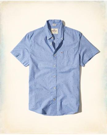 hol Stretch Short-Sleeve Poplin Shirt
