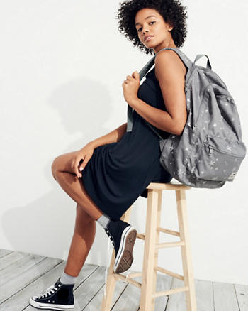 Graphic Nylon Backpack