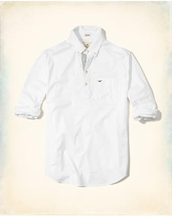 hol Stretch Oxford Popover Shirt