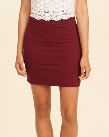 Knit Bodycon Skirt