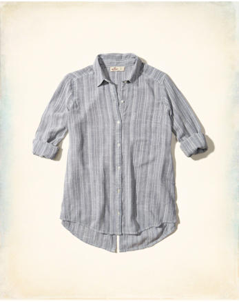 hol Split Back Woven Shirt