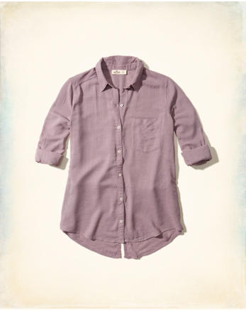 hol Split Back Woven Shirt