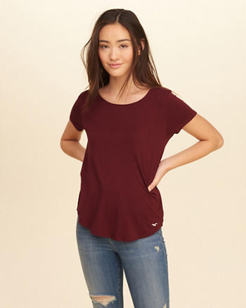 Strappy Back Easy T-Shirt