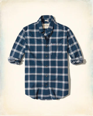 Stretch Plaid Poplin Shirt