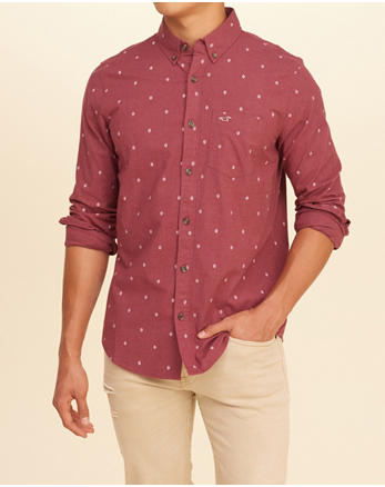 hol Stretch Patterned Poplin Shirt