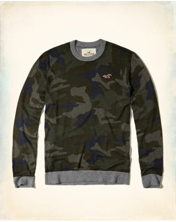 hol Camo Crewneck Sweater