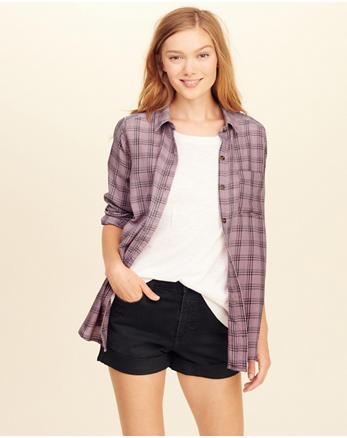 hol Burnout Button-Front Shirt