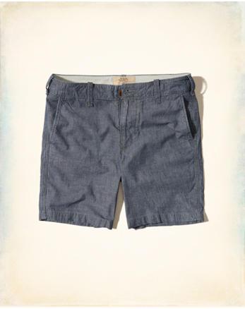 hol Beach Prep Fit Chambray Shorts