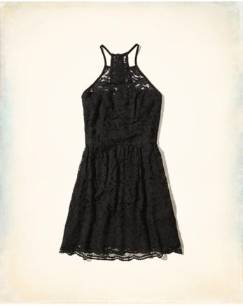 hol High-Neck Lace Dress