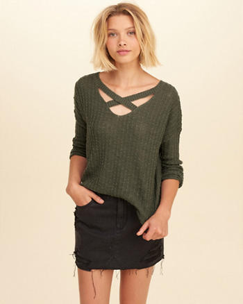 Strappy Reversible Sweater