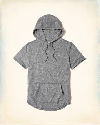 Textured Hooded T-Shirt