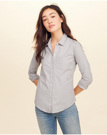 hol Button-Front Oxford Shirt