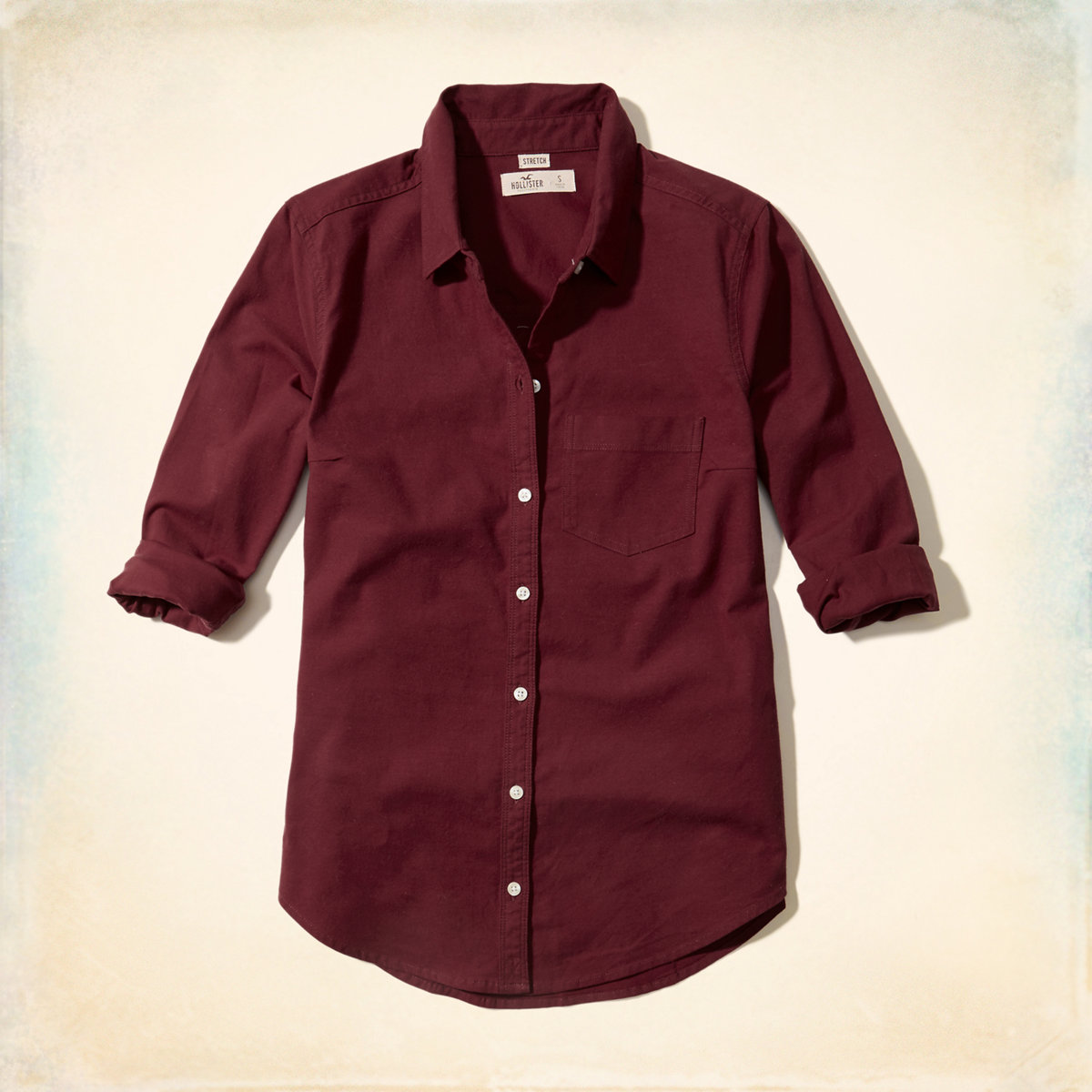 Button-Front Oxford Shirt