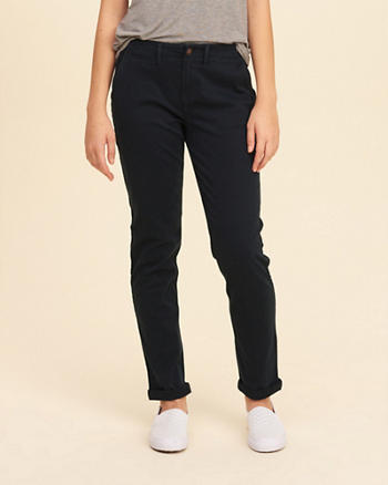 Low-Rise Chino Pants