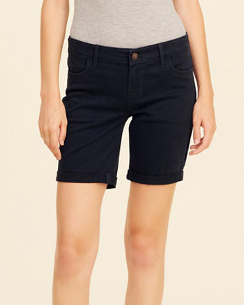 Low-Rise Twill Boyshorts