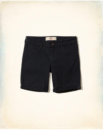 hol Low-Rise Twill Boyshorts