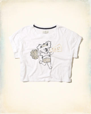 Crop Graphic Tee