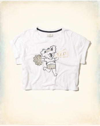 hol Crop Graphic Tee