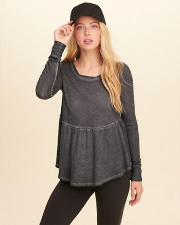 Burnout Peplum Top