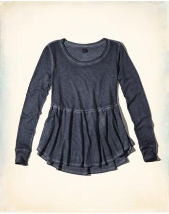 hol Garment-Dyed Peplum Top