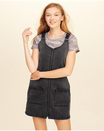 hol Denim Overall Dress