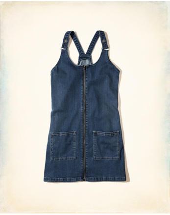 hol Denim Overall Dress