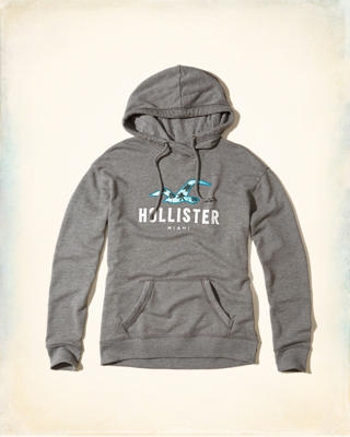 Miami Logo Graphic Hoodie