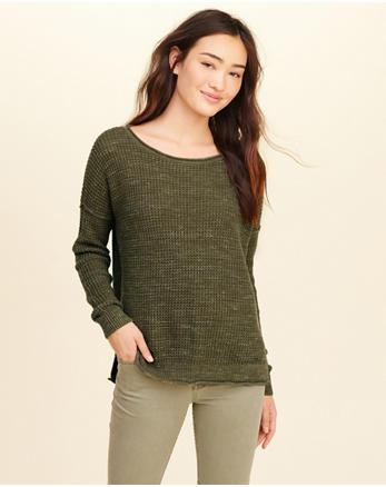 hol Waffle Crewneck Sweater