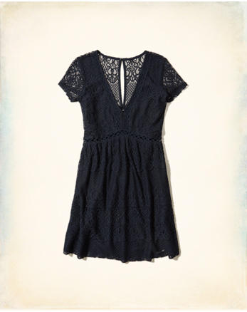 hol Lace Babydoll Dress