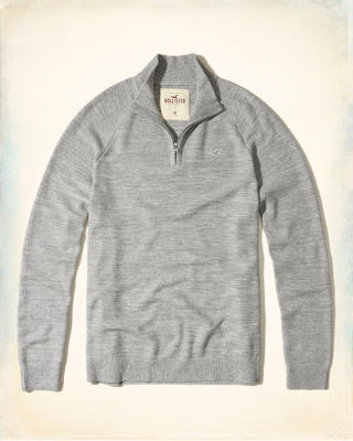 Half-Zip Mockneck Sweater