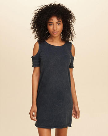 Cold Shoulder T-Shirt Dress