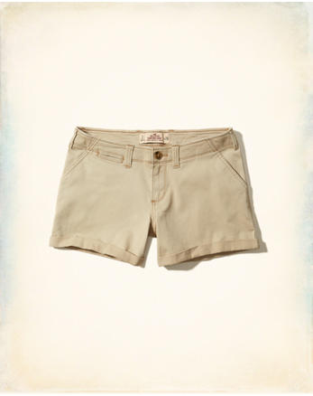 hol Low-Rise Twill Midi Shorts