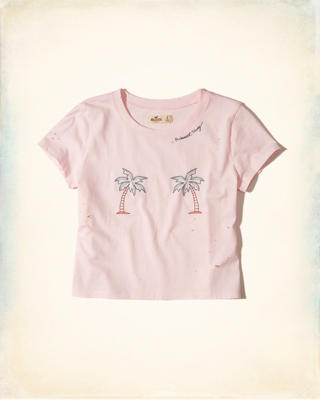 Distressed Graphic Baby Tee