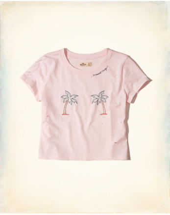 hol Distressed Graphic Baby Tee